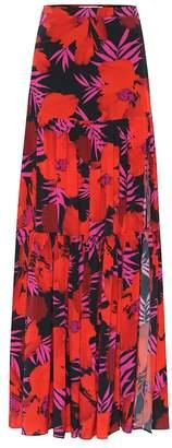Veronica Beard Serence floral stretch-silk skirt