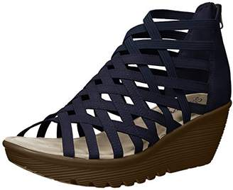Skechers Women's Parallel-Dream Queen-Caged Open Toe Sandal Wedge