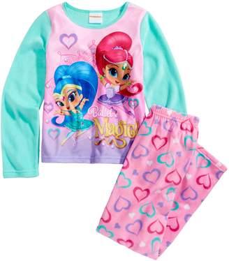 Nickelodeon Girls' Shimmer and Shine Ballet Fleece Pajama Set, Kids