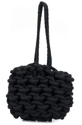 Alienina braided shoulder bag