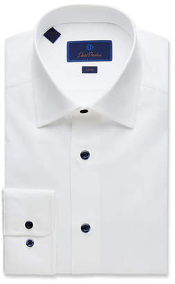 David Donahue Men's Slim-Fit Superfine Twill Dress Shirt