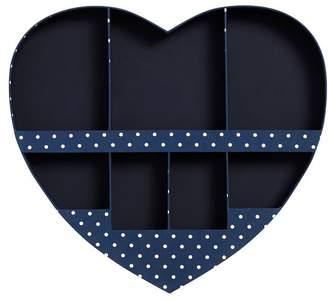 Pottery Barn Teen Fabric Heart Wall Organizer, Navy Dottie