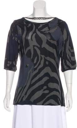 Yigal Azrouel Chain-Link Printed Top