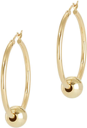 Argentovivo Gold Ball Hoops