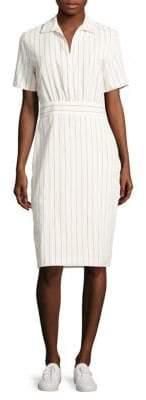 Max Mara Striped Short-Sleeves Shirtdress