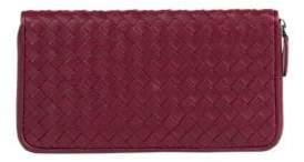 Bottega Veneta Woven Leather Continental Wallet