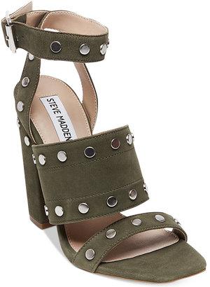 Steve Madden Jansen Studded Block-Heel Sandals $119 thestylecure.com