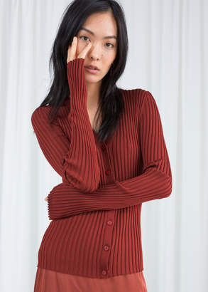 And other stories Fitted Ribbed Cardigan
