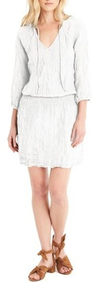 Women's Michael Stars Cotton Smocked Waist Dress $158 thestylecure.com