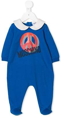 Moschino Kids printed peace sign pajamas