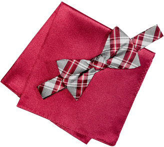 Alfani Men's Red Bow Tie & Silk Pocket Square Set, Only at Macy's $55 thestylecure.com