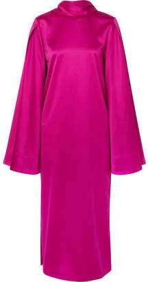 SOLACE London Aubry Satin Dress - Purple