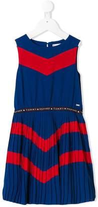 Tommy Hilfiger Junior chevron pleated dress