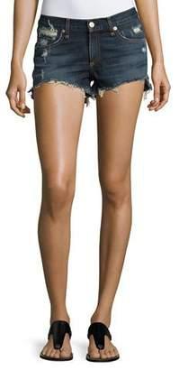 Rag & Bone Cutoff Distressed Denim Shorts, Indigo