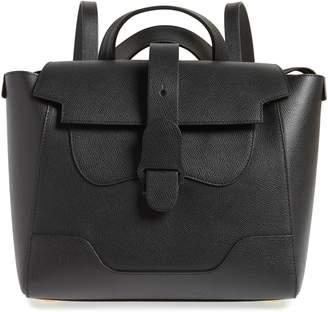 Senreve Medium Maestra Pebbled Leather Convertible Satchel