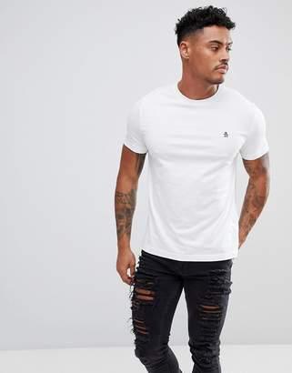 Original Penguin Small Logo T-Shirt Slim Fit in White