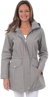 Fleet Street Women's Hooded Long Rain Coat