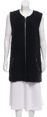 Maison Scotch Wool-Mohair Blend Bouclé Vest