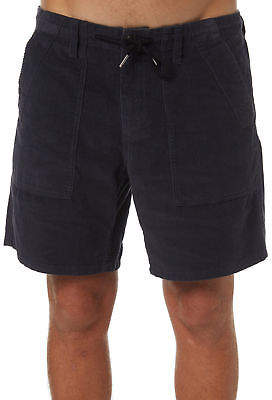 rhythm New Men's Corduroy Bunker Mens Short Cotton Corduroy Blue 34