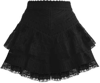 Zimmermann Juniper Pintuck Frill Short