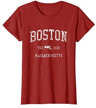 Boston T-Shirt Vintage Sports Design Boston Massachusetts MA
