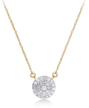 ONLINE 1/5 cttw Round Diamond Pendant Necklace 14kt Yellow Gold
