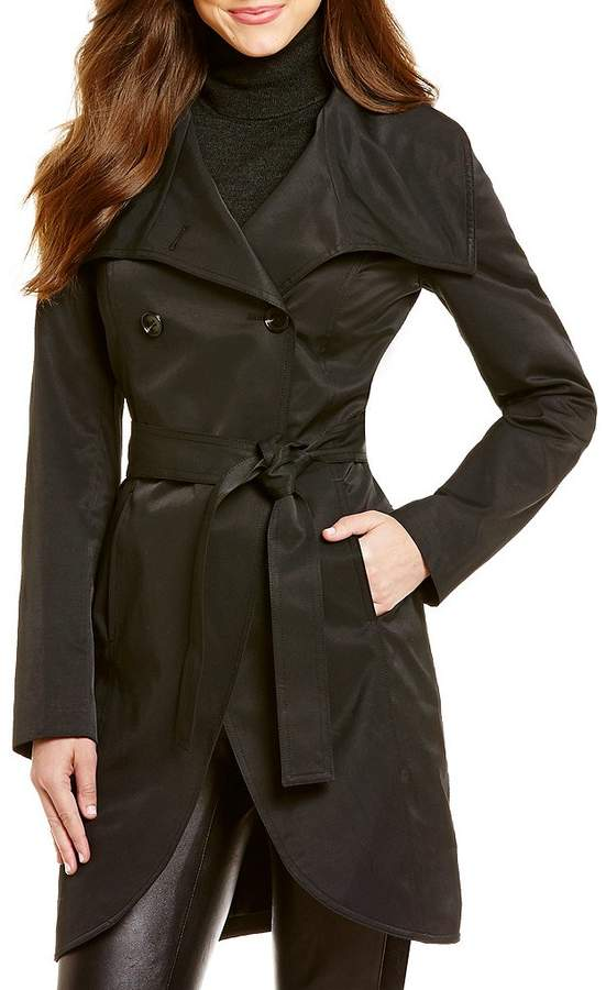 Wintour Shawl Collar Trench Coat