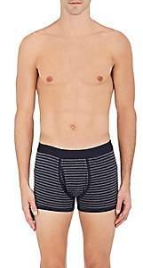 Sunspel Men's Striped Cotton Boxer Briefs - Navy
