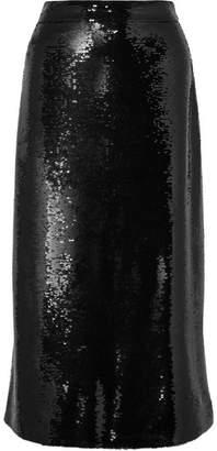 Gucci Sequined Crepe Midi Skirt - Black