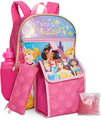 Bioworld Little & Big Girls 5-Pc. Disney Princesses Backpack & Lunch Kit Set