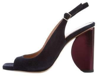 Dries Van Noten Square-Toe High Heel Sandals