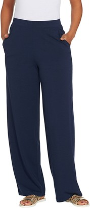 Denim & Co. Beach Regular Pull-On Wide Leg Knit Pants