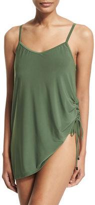 Magicsuit Brynn Asymmetric Swim Dress $172 thestylecure.com