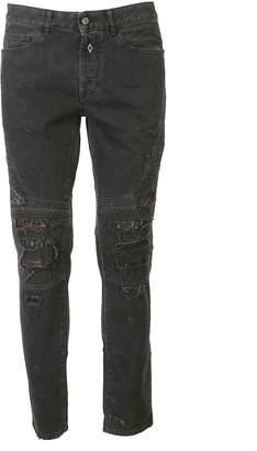 Marcelo Burlon County of Milan Snake Biker Jeans
