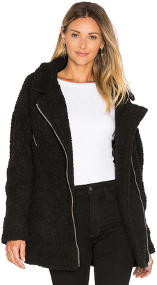 J.O.A. Long Sleep Moto Jacket $140 thestylecure.com