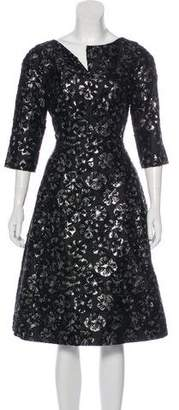 Oscar de la Renta Silk-Blend A-Line Dress