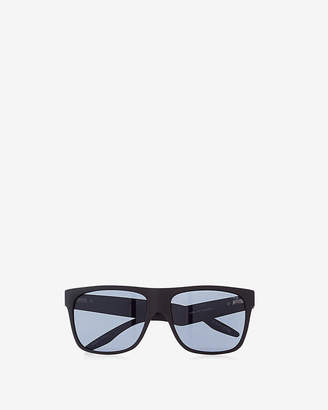 Express Matte Rubber Square Sunglasses