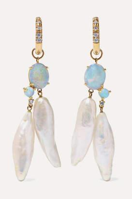 WWAKE Net Sustain Gold Multi-stone Earrings