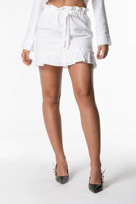 Cattiva Girl Ruffle Drawstring Mini-Skirt