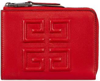 Givenchy Medium Emblem Zip Wallet in Poppy Red | FWRD