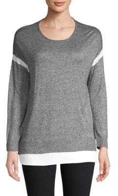 Calvin Klein Heathered Long-Sleeve Sweater
