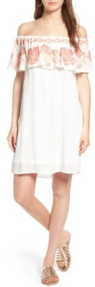 Women's Sun & Shadow Embroidered Off The Shoulder Dress $55 thestylecure.com