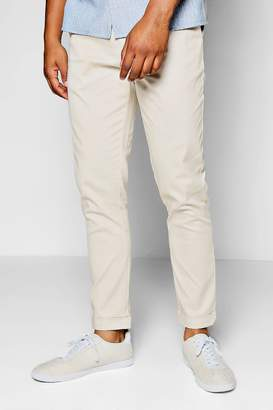 boohoo Stone Tapered Fit Chino With Stretch