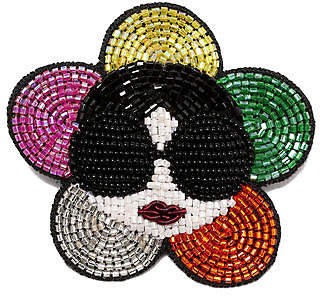 Alice + Olivia (アリス オリビア) - Alice+olivia Metalic Staceface Brooch