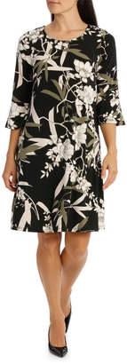 Regatta Tonal Floral Frill Sleeve Dress