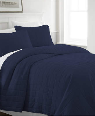 Home Collection Premium Ultra Soft Square Pattern Quilted Coverlet Set, Twin Bedding
