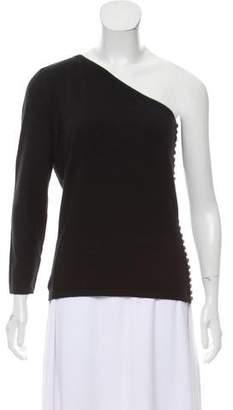 Celine One-Shoulder Cashmere Sweater
