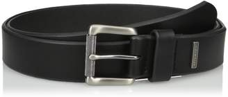 Dickies Men's 1 3/8 Inch Leather Belt with Metal Logo