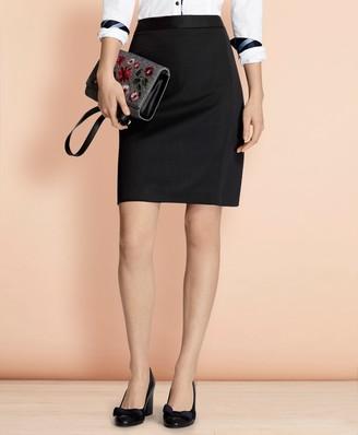 Brooks Brothers Stretch Wool Pencil Skirt