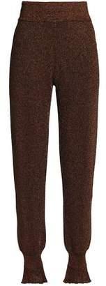 Lanvin (ランバン) - Lanvin Metallic Stretch-Knit Tapered Pants